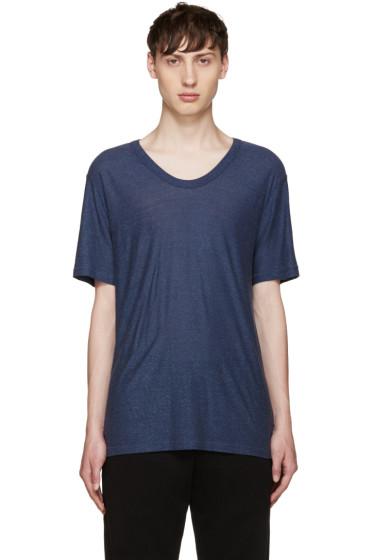 T by Alexander Wang - Blue Slub Jersey T-Shirt