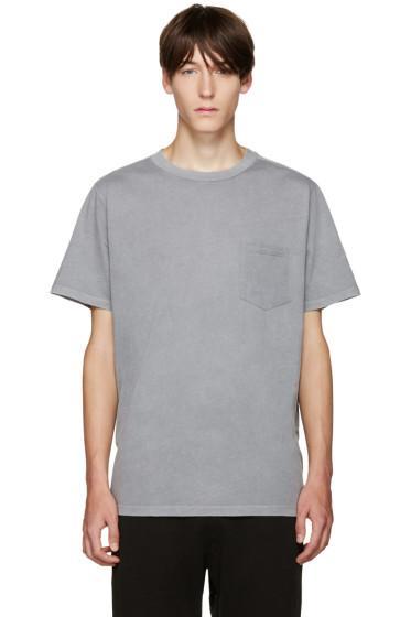 T by Alexander Wang - Grey Pocket T-Shirt