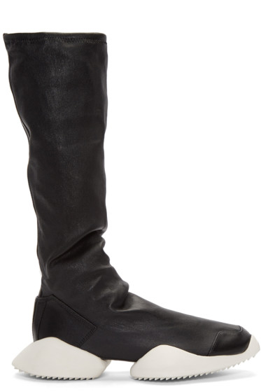 Rick Owens - Black adidas Edition Runner Stretch Boot High-Top Sneakers