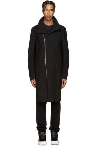 Rick Owens - Black Tubeway Coat