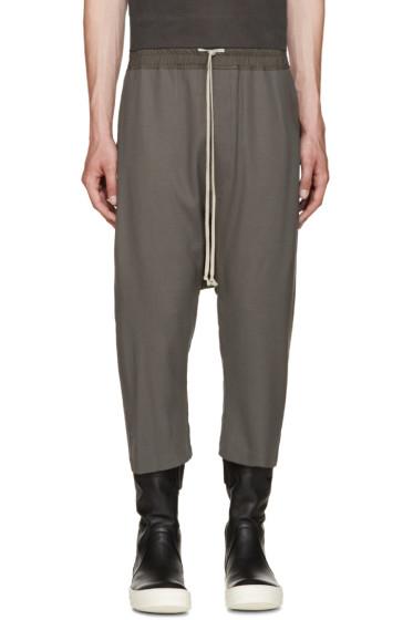 Rick Owens - Grey Cropped Lounge Pants