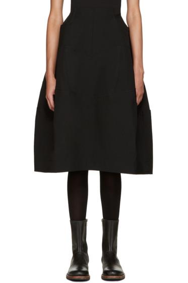 Comme des Garçons - Black Wool Volume Skirt