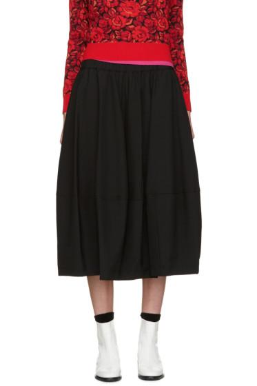Comme des Garçons - Black Wool Gathered Skirt