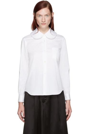 Comme des Garçons - White Big Collar Shirt