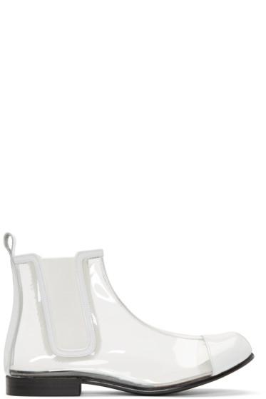 Comme des Garçons - Clear & White PVC Chelsea Boots
