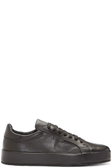 Jil Sander - Black Leather Miro Sneakers
