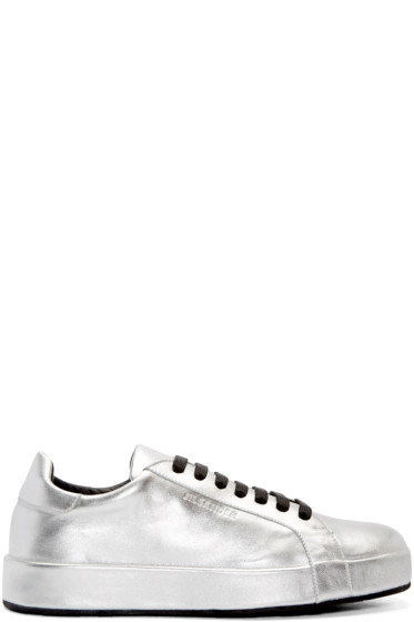 Jil Sander - Silver Leather Miro Sneakers