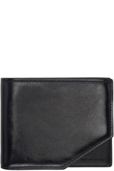 Jil Sander - Black Leather Bifold Wallet