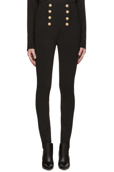 Balmain - Black Button Trousers