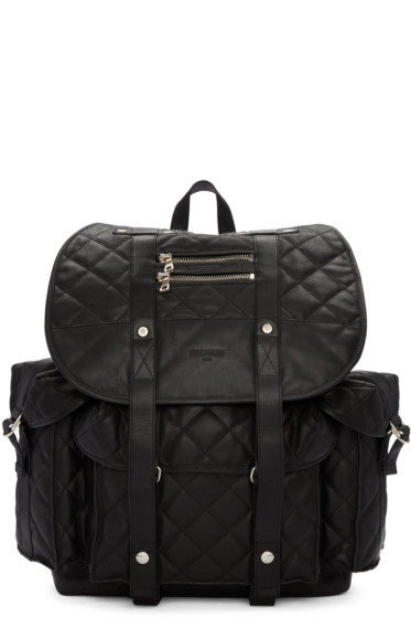 Balmain - Black Quilted Backpack