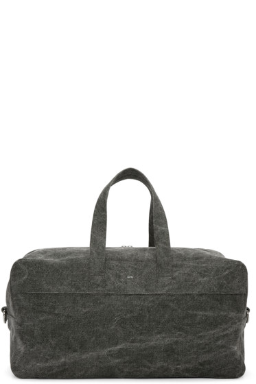 A.P.C. - Grey Canvas Xavier Duffle Bag