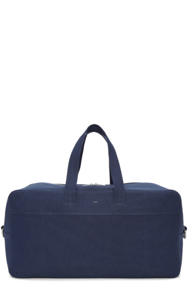A.P.C. - Navy Canvas Xavier Duffle Bag