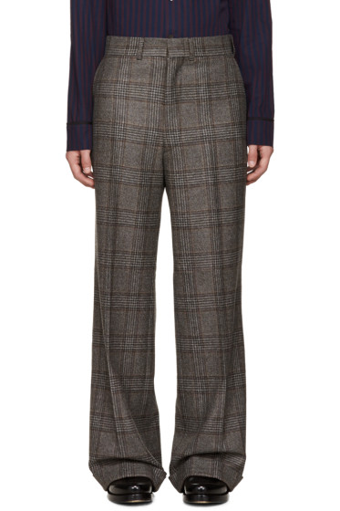 Junya Watanabe - Brown Wool Glencheck Trousers