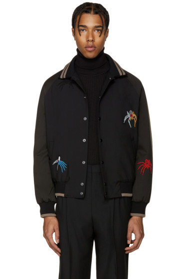Lanvin - Black Spiders Bomber Jacket