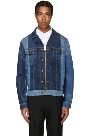 Lanvin - Blue Mix Match Denim Jacket