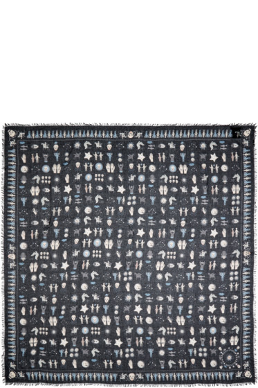 Alexander McQueen - Black Dancing With The Devil Scarf