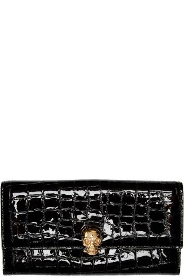 Alexander McQueen - Black Skull Wallet