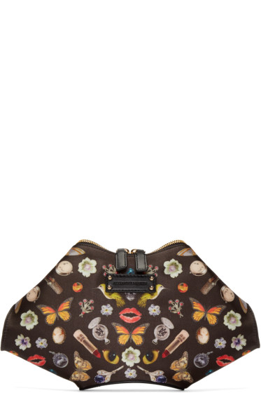 Alexander McQueen - Black Obsession Small De Manta Clutch