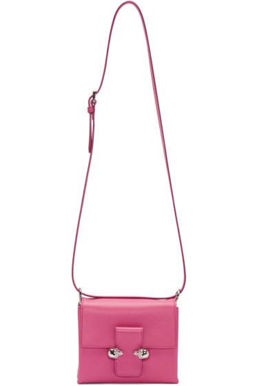 Alexander McQueen - Pink Twin Skull Shoulder Bag