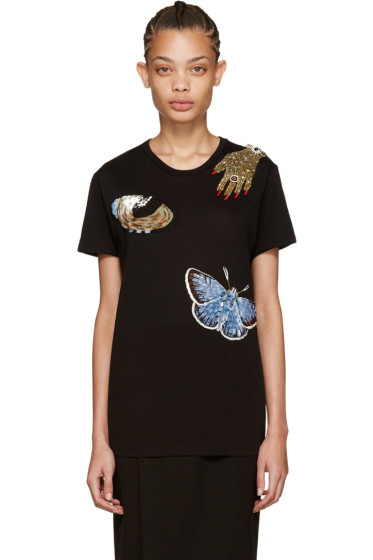 Alexander McQueen - Black Oversized Obsession T-Shirt