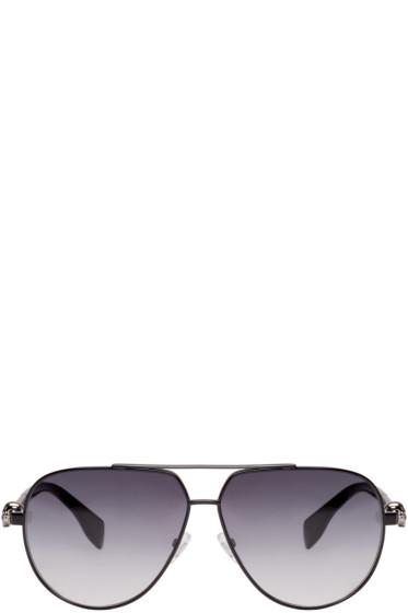 Alexander McQueen - Black Skull Aviator Sunglasses