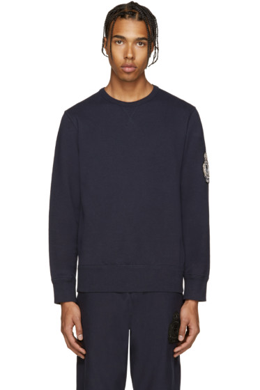 Alexander McQueen - Navy Embroidered Sweatshirt