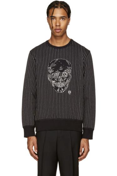 Alexander McQueen - Black Skull Stitching Pullover