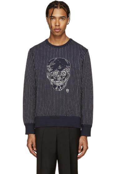 Alexander McQueen - Navy Skull Stitching Pullover
