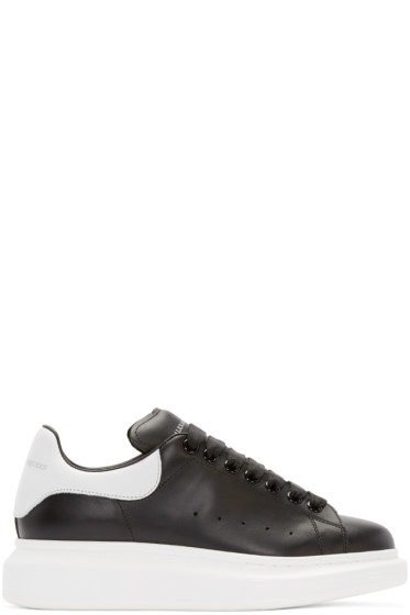 Alexander McQueen - Black & White Leather Sneakers