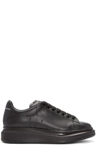 Alexander McQueen - Black Embossed Skull Sneakers