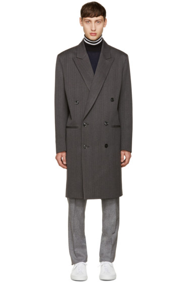 Paul Smith - Grey Herringbone Coat