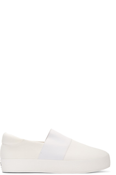 Opening Ceremony - Ivory Classic Slip-On Sneakers