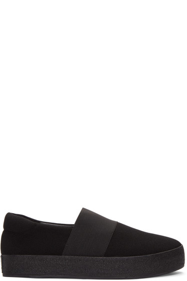 Opening Ceremony - Black Classic Slip-On Sneakers