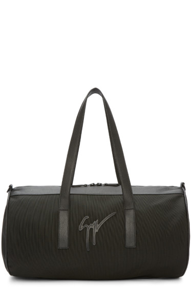 Giuseppe Zanotti - Black Canvas & Leather Duffle Bag