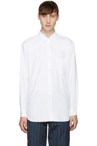 Comme des Garçons Shirt - White Brushed Cotton Shirt