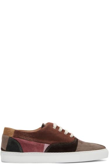 Comme des Garçons Shirt - Multicolor Suede Patchwork Sneakers