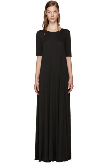 Raquel Allegra - Black Jersey Maxi Dress