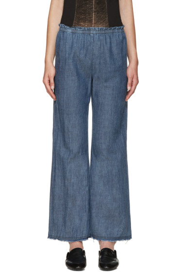 Raquel Allegra - Blue Chambray Trousers