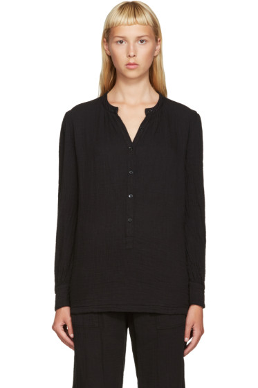 Raquel Allegra - Black Henley Shirt