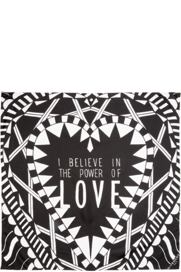 Givenchy - Black Silk Power Of Love Scarf