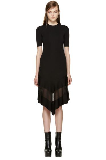 Givenchy - Black Sheer Panel Dress