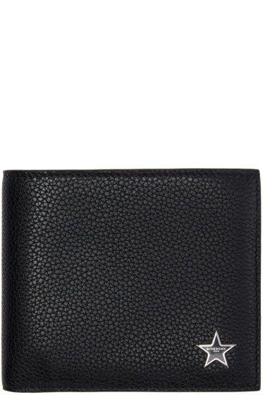 Givenchy - Black Leather Star Wallet