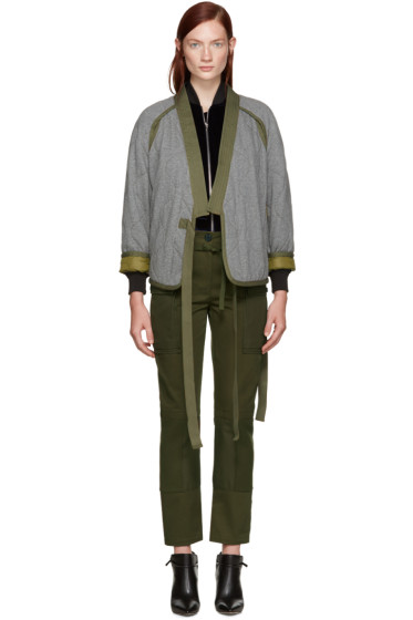 3.1 Phillip Lim - Grey Quilted Kimono Jacket