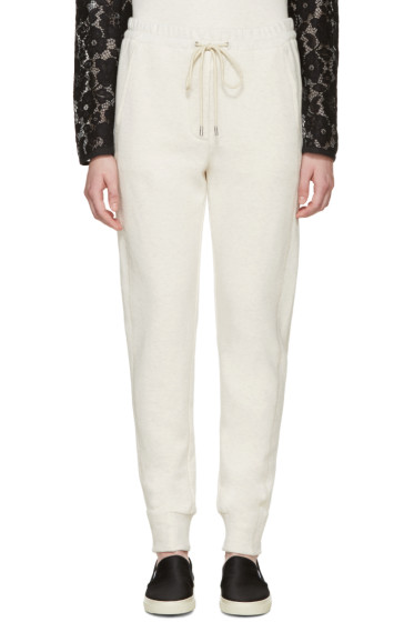 3.1 Phillip Lim - Cream Mélange Lounge Pants
