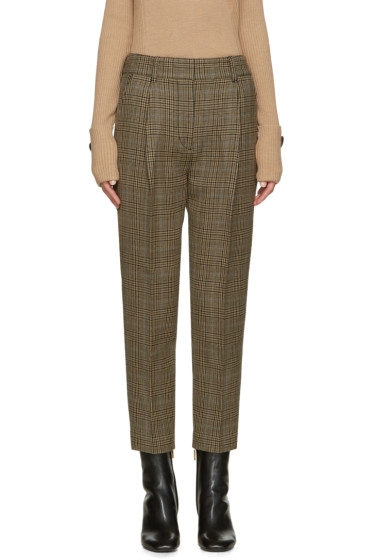 3.1 Phillip Lim - Brown Glen Plaid Carrot Trousers