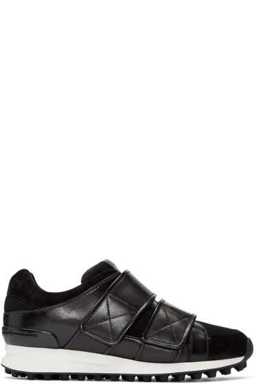 3.1 Phillip Lim - Black Leather Trance Sneakers