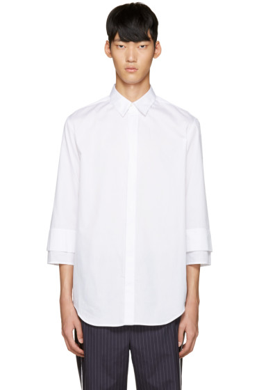3.1 Phillip Lim - White Double Cuffs Shirt
