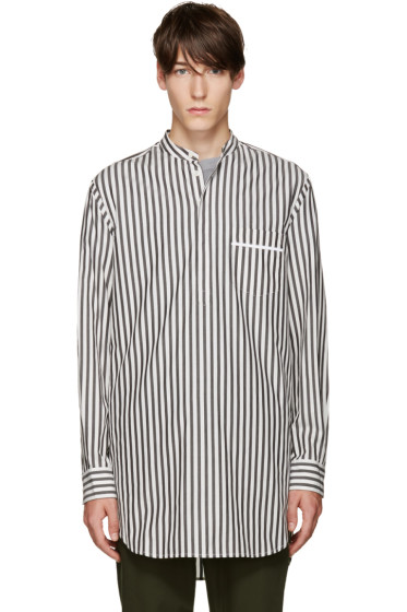 3.1 Phillip Lim - Grey & White Pyjama Shirt