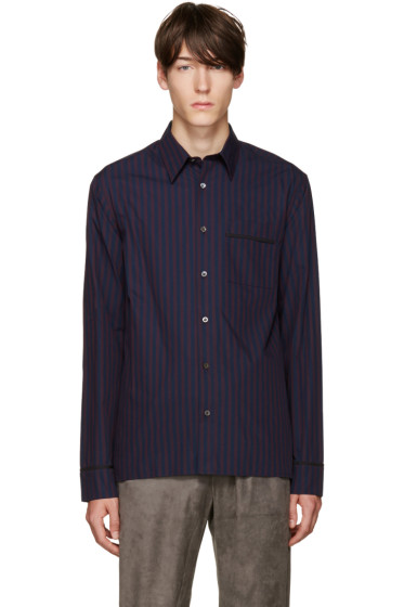 3.1 Phillip Lim - Navy & Purple Pyjama Shirt