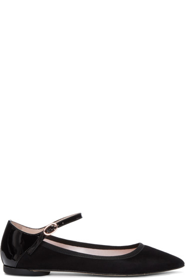 Repetto - Black Suede Clemence Flats